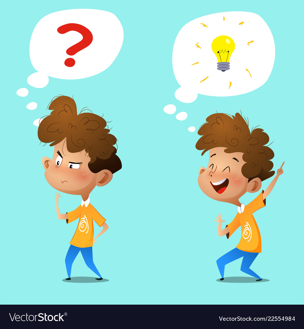 Animated boy thinking clipart banner freeuse Cartoon thinking boy emotions and gestures banner freeuse