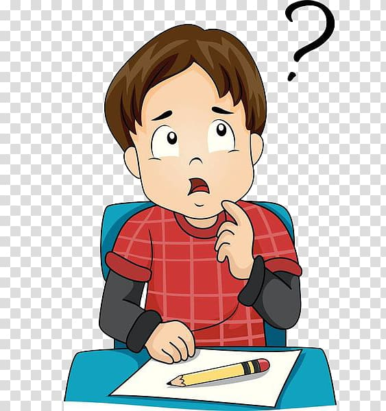 Animated boy thinking clipart picture free library Boy sitting at the table while thinking illustration, , A thinking ... picture free library