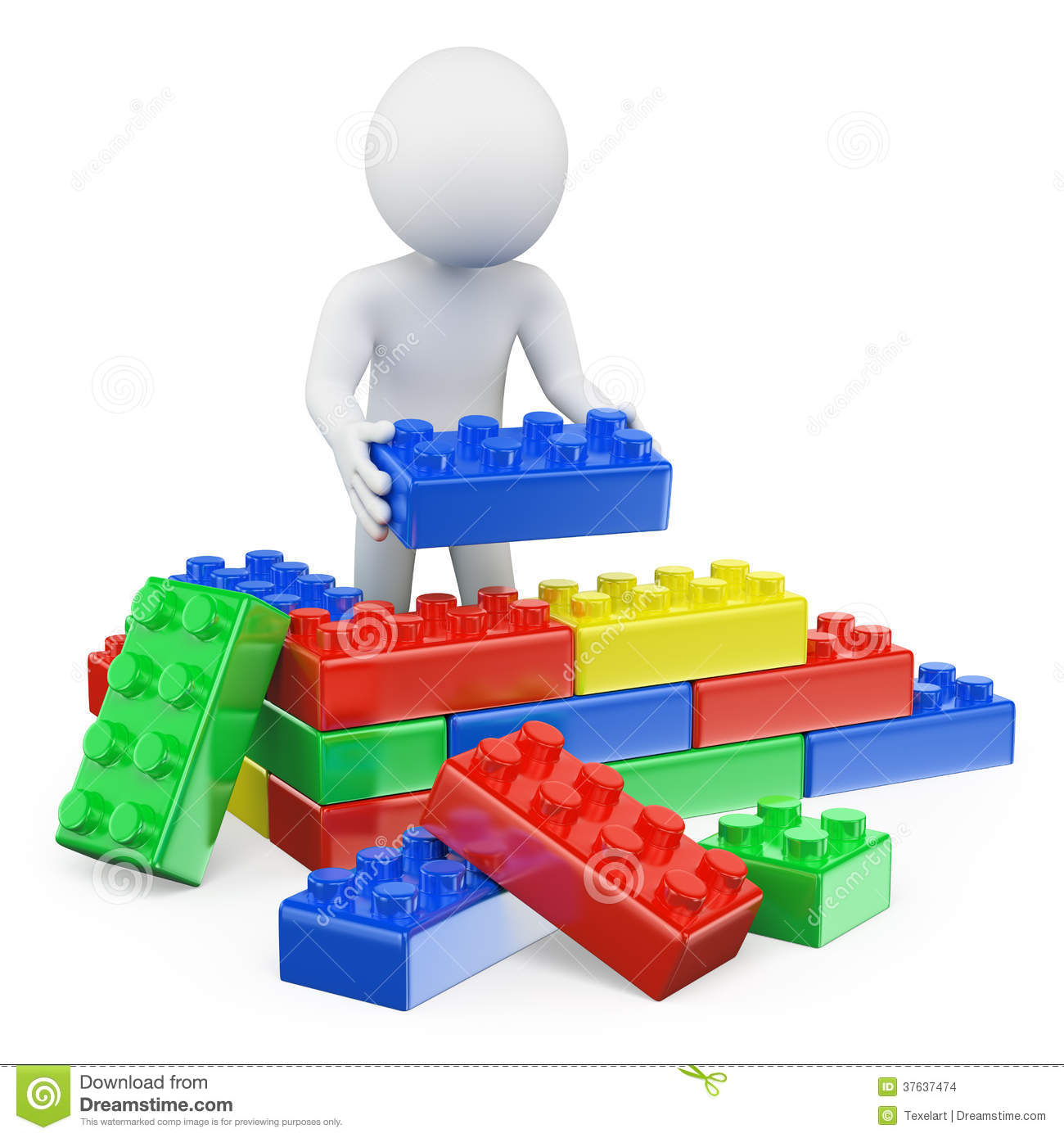 Animated building blocks clipart clip black and white 3d People Block Clipart clip black and white