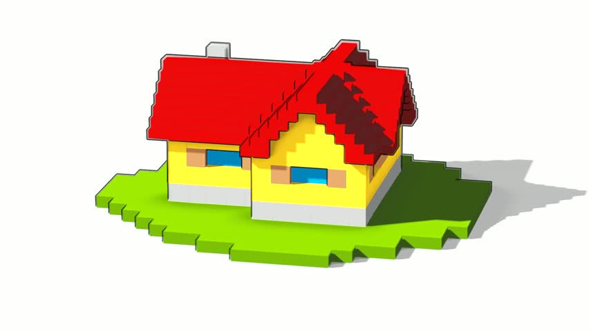 Animated building blocks clipart jpg freeuse Animated Construction (building) Of Cartoon Block House. Falling ... jpg freeuse