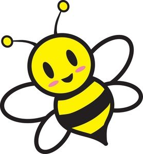 Free honey bee clipart images. Image cartoon flying around