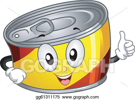 Animated canned food clipart banner transparent stock Vector Art - Canned food mascot. EPS clipart gg61311175 - GoGraph banner transparent stock