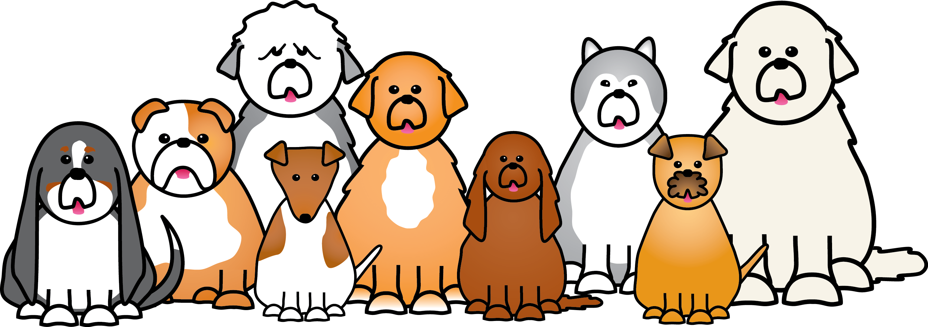 Droopy dog clipart jpg download Dog Puppy Cat Pet Clip art - Dogs Cartoon 3066*1083 transprent Png ... jpg download
