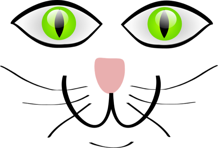 Cat eyes and whiskers clipart svg free library Free Cat Clipart svg free library