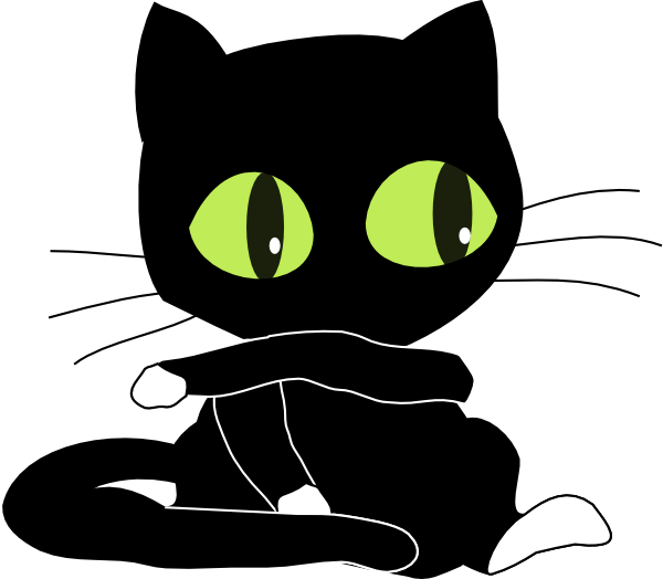 Cat eyes and whiskers clipart svg freeuse download Cat Clip Art Black And White | Clipart Panda - Free Clipart Images svg freeuse download