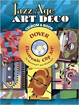 Jazz age art deco. Animated cd turning clipart