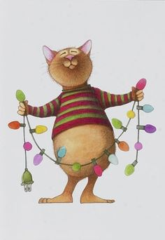 Animated christmas cat clipart