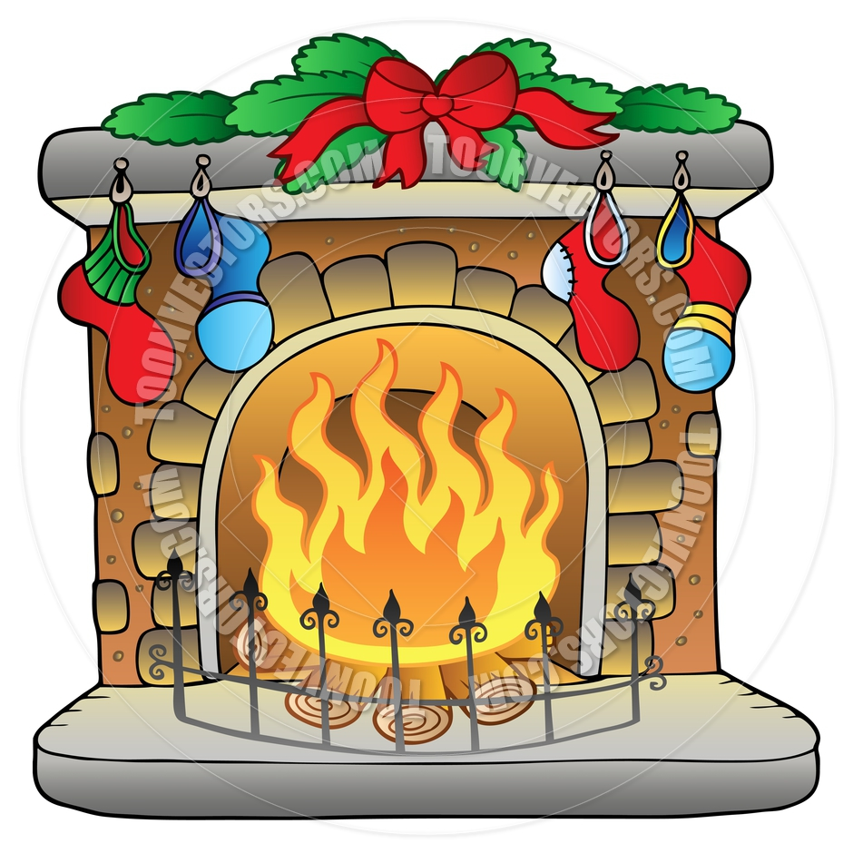 Clipart fire place png black and white Free Holiday Fireplace Cliparts, Download Free Clip Art, Free Clip ... png black and white