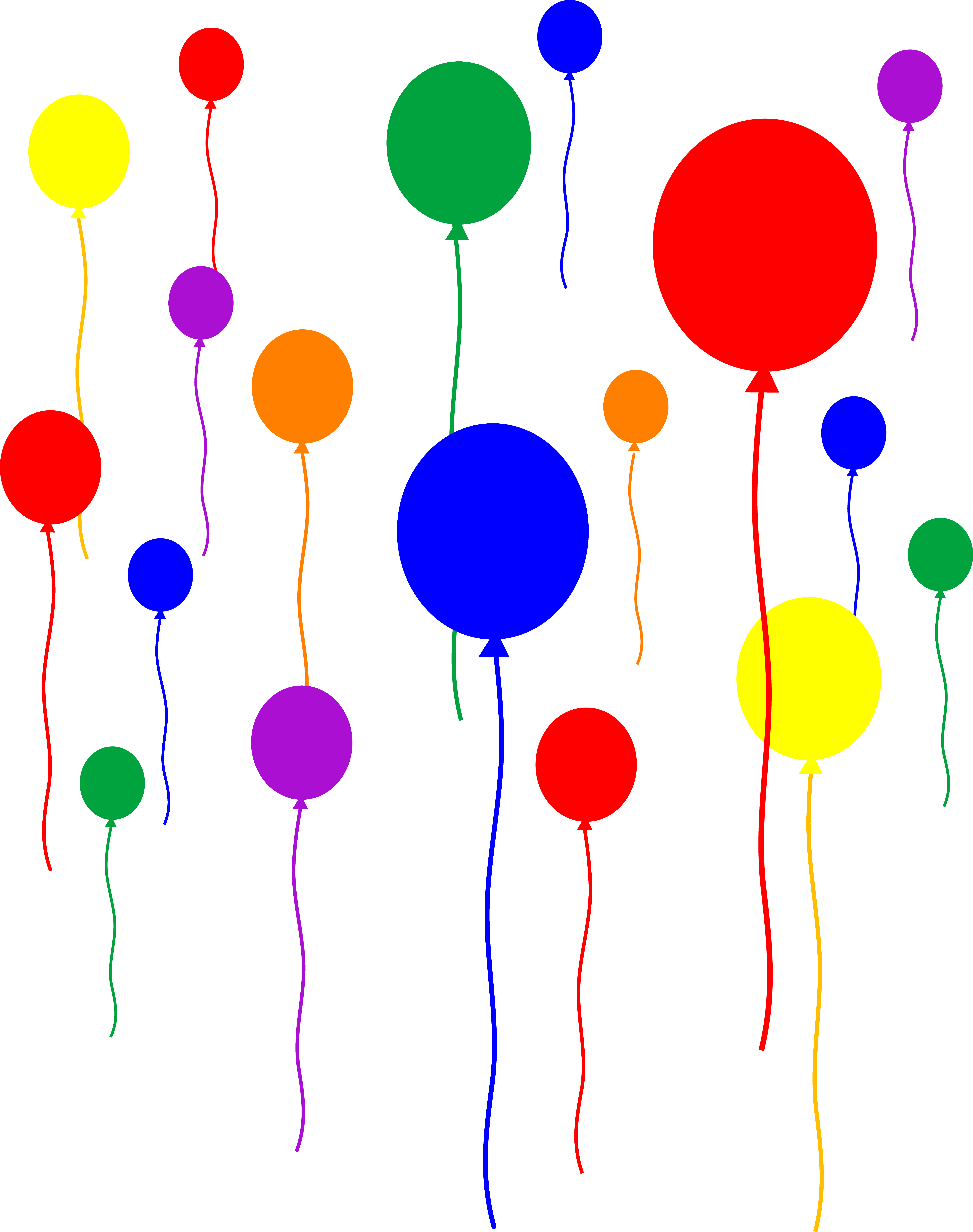 Animated clipart balloons free graphic black and white Free Moving Birthday Cliparts, Download Free Clip Art, Free Clip Art ... graphic black and white