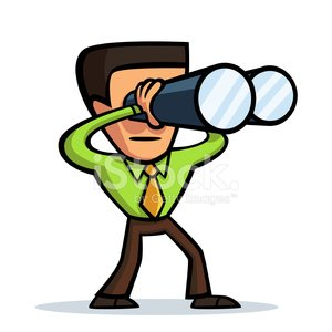 Animated clipart binoculars