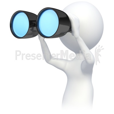 Animated clipart binoculars clip black and white Stick Figre Looking Though Binoculars - 3D Figures - Great Clipart ... clip black and white