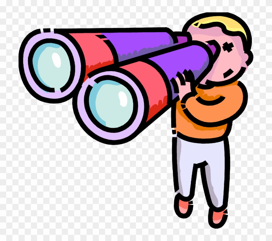 Looking through binoculars clipart picture stock Vector Free Stock Boy Looks Through Binoculars - Binoculars Clip Art ... picture stock
