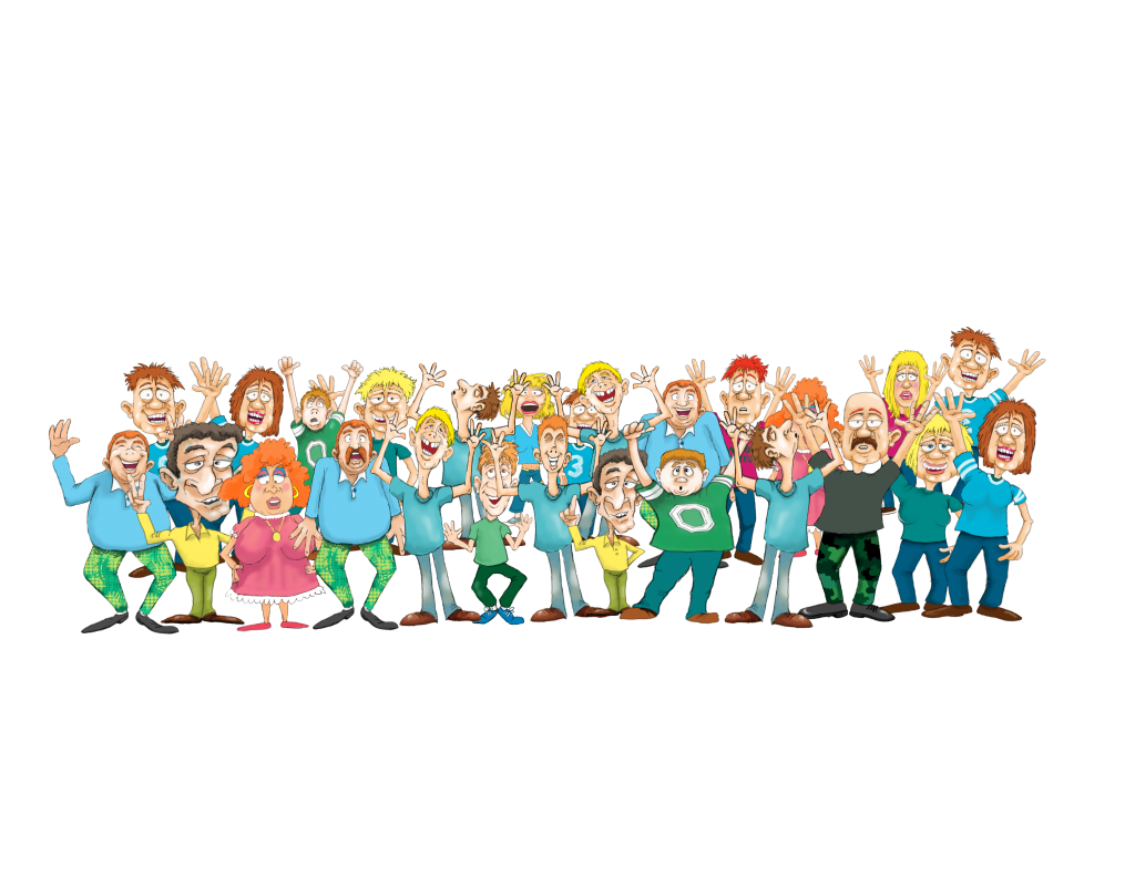 Animated clipart cheering crowd baseball stadium picture stock Childrens books Illustrations. Artist for Hire - picture stock