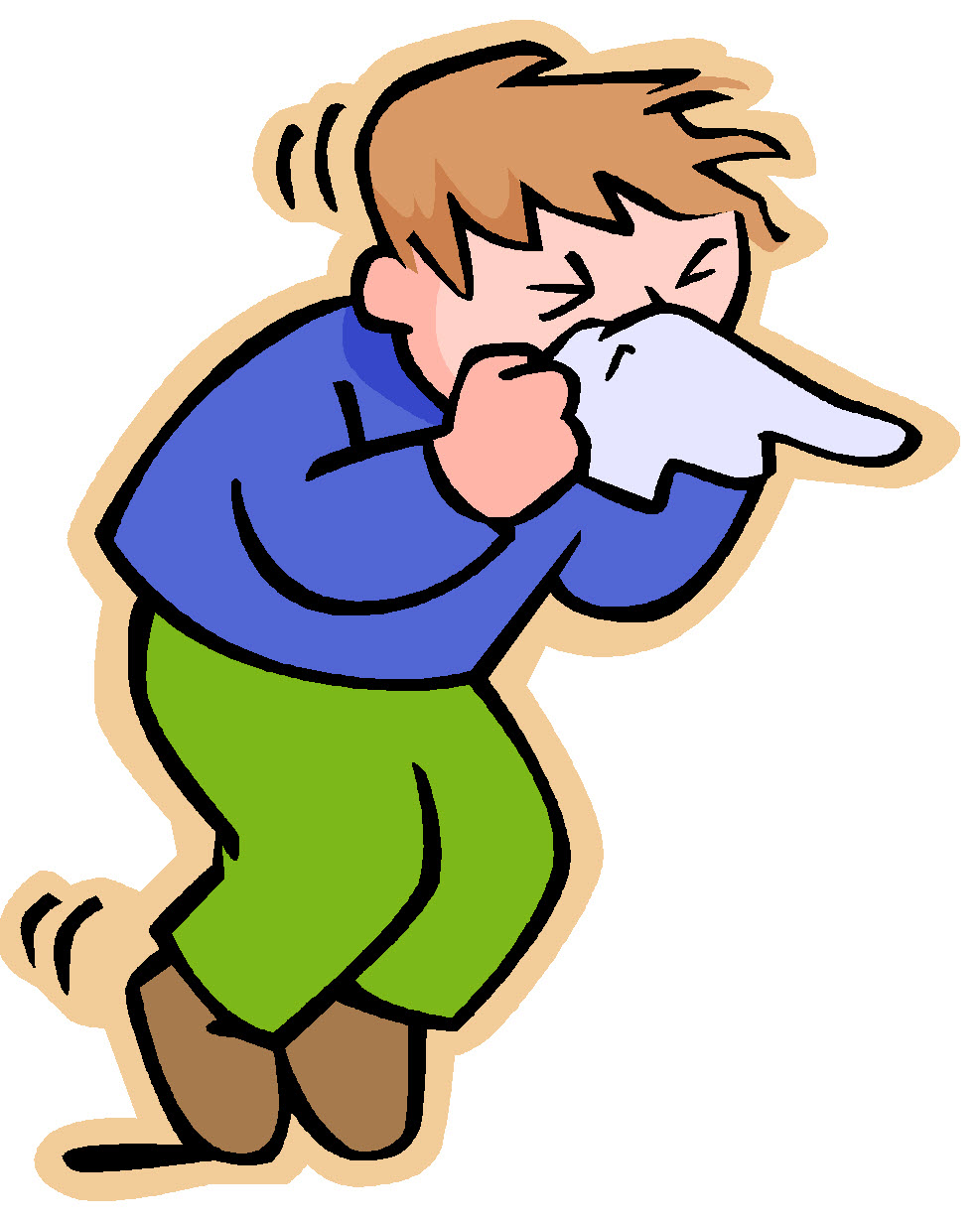Sick person clipart
