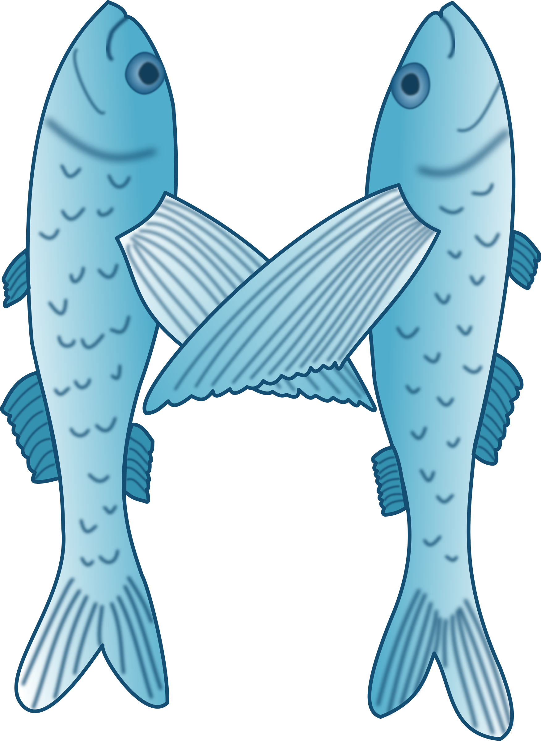 Flying fish clipart clip art royalty free Clipart - Fish forming letter M clip art royalty free