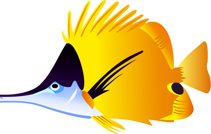 Clipartfish black and whitecooked. Cute purple fish clipart