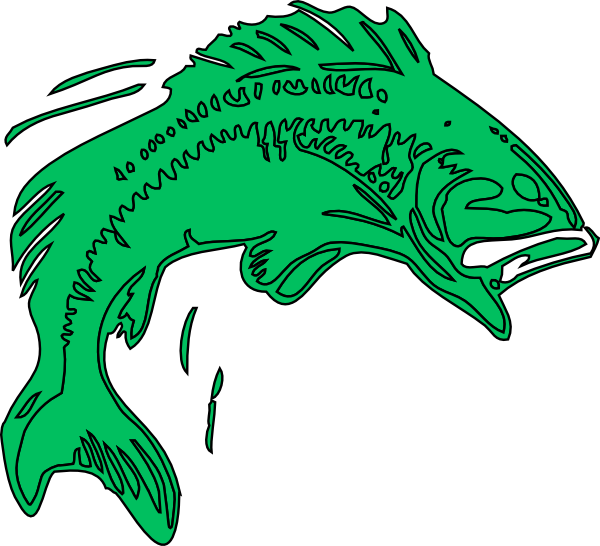 Bass fish vector clipart jpg free download Bass Fish Green Clip Art at Clker.com - vector clip art online ... jpg free download