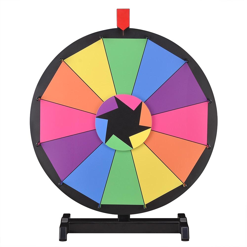 Animated clipart for advertising spin prize wheel vector black and white stock WinSpin™ 18\