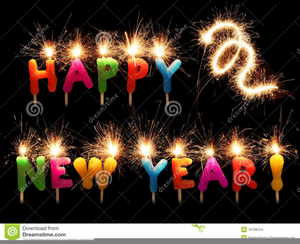 Animated clipart happy new year clip art black and white Free Animated Happy New Year Clipart | Free Images at Clker.com ... clip art black and white