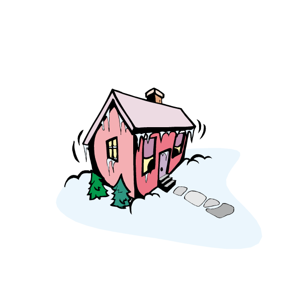 Animated clipart house snow banner transparent library Animation Clip art - Red house after heavy snow png download - 567 ... banner transparent library