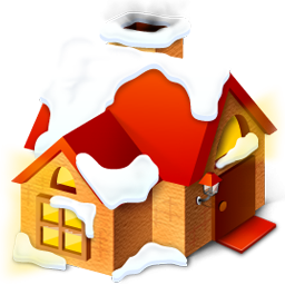 Animated clipart house snow transparent library Red House With Snow Icon, PNG ClipArt Image | IconBug.com transparent library
