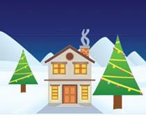 Animated clipart house snow vector transparent stock Free Christmas Animated Clipart - Animated Gifs vector transparent stock