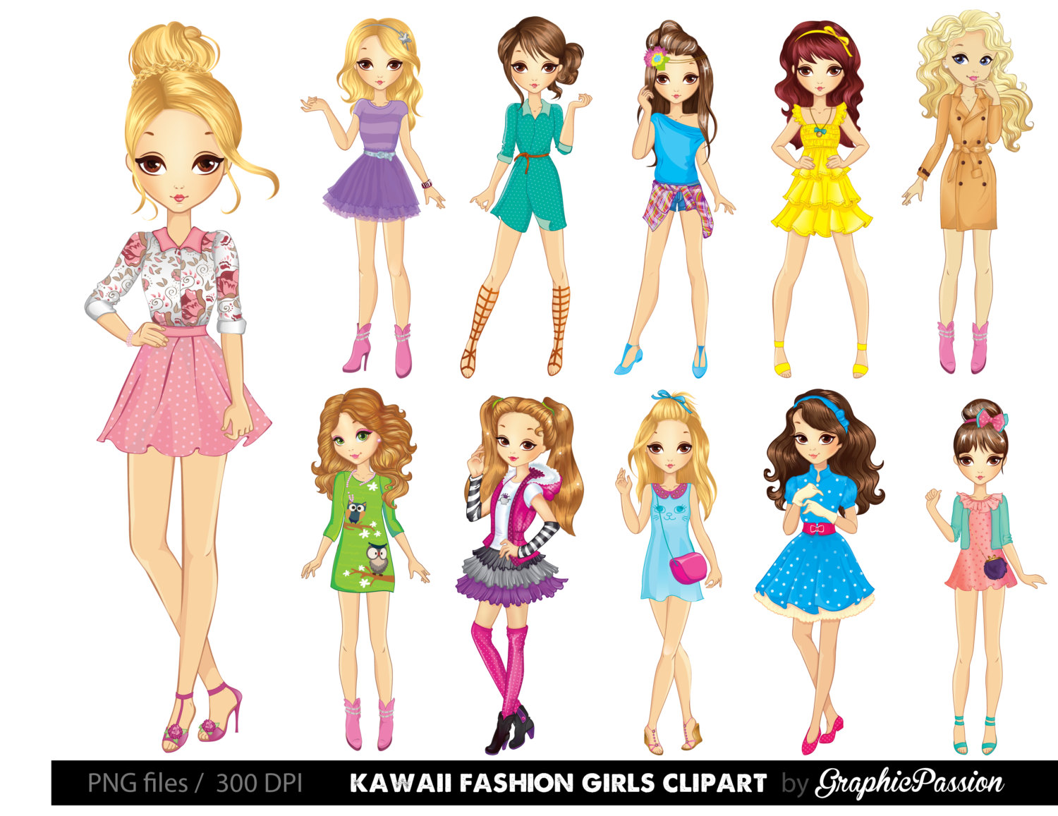 Animated clipart lady twirling tassels