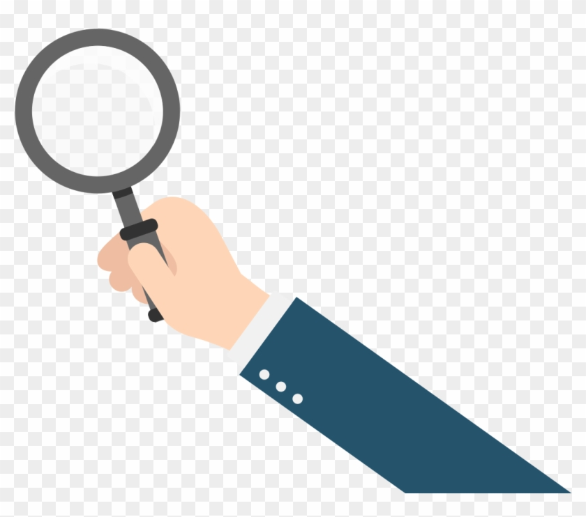 Animated clipart magnifying glass jpg black and white download Hand Holding Magnifying Glass Vector , Png Download - Magnifying ... jpg black and white download