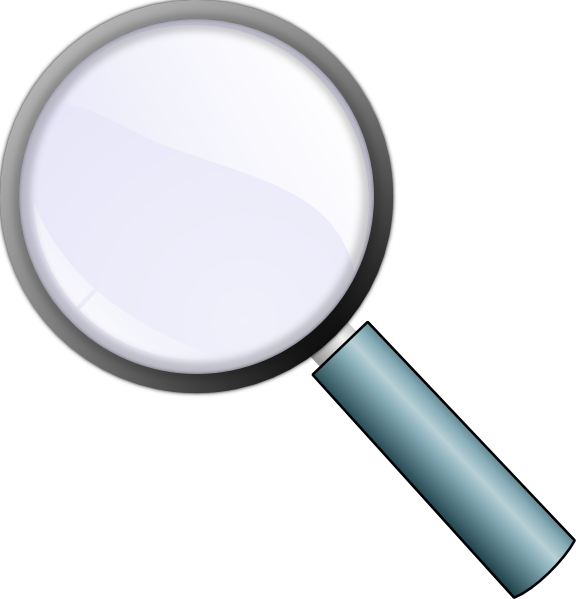 Animated clipart magnifying glass picture black and white stock Magnifying Glass Clip Art at Clker.com - vector clip art online ... picture black and white stock