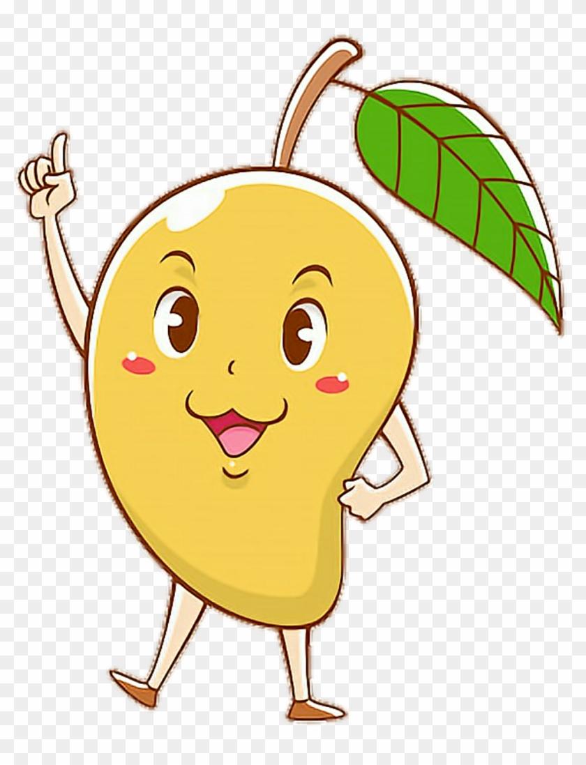 Animated clipart mango clip freeuse scmango #mango #cartoon #cute #colorful #pose #smart - Mangoes ... clip freeuse