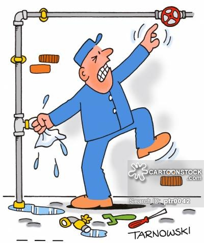 Animated clipart plumbing leak clipart library stock Water Pipes Cartoons and Comics - funny pictures from CartoonStock clipart library stock