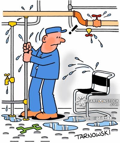 Animated clipart plumbing leak image free Piping Cartoons and Comics - funny pictures from CartoonStock image free