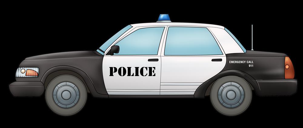 Animated clipart police car