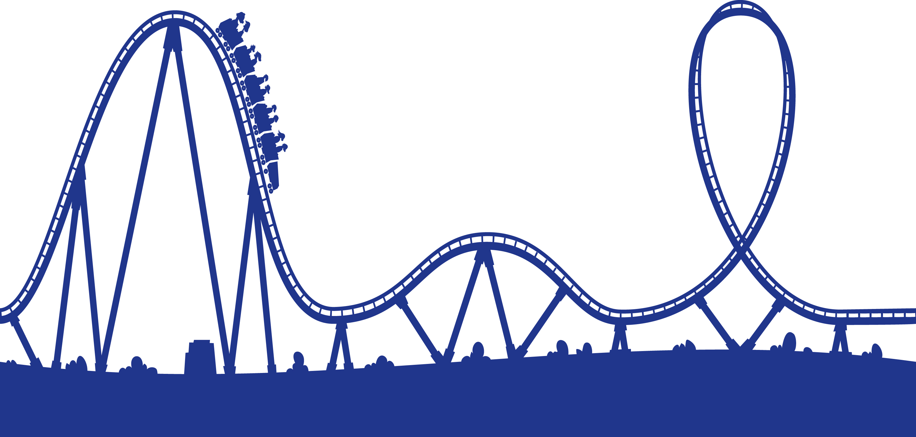 Animated roller coaster clipart free