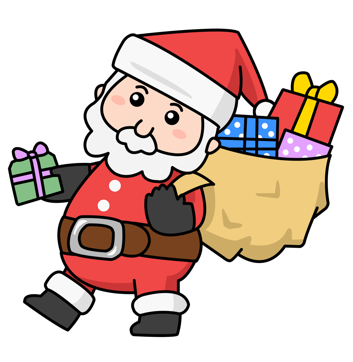 Free black and white clipart santa workshop jpg library stock Free Animated Santa Claus Clipart, Download Free Clip Art, Free Clip ... jpg library stock