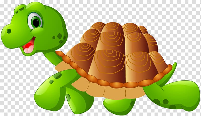 Animated clipart transparent background png black and white stock Green and brown turtle illustration, Green sea turtle Cartoon ... png black and white stock