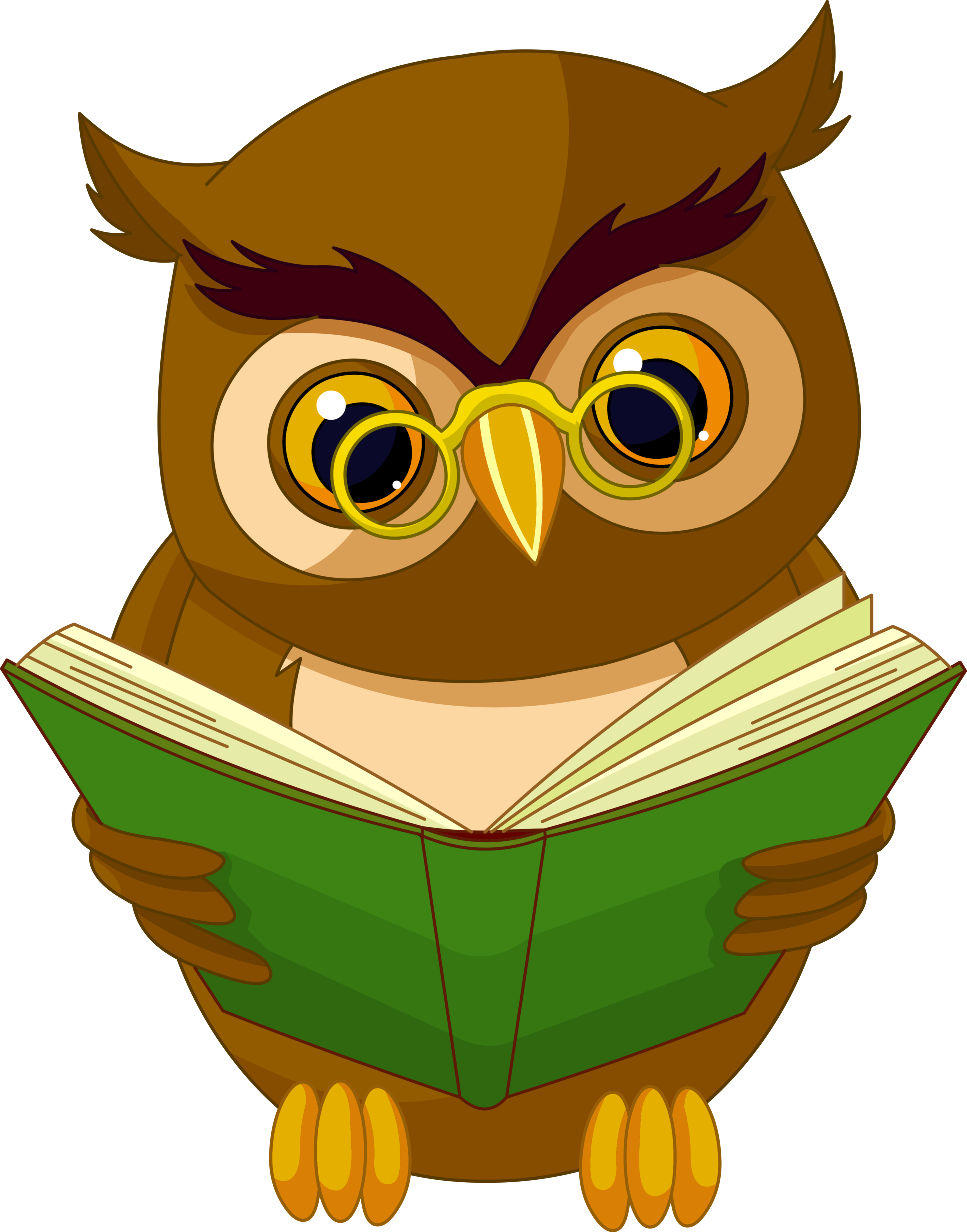 Animated clipart transparent background vector stock Owl Animated cartoon Drawing Animation - Transparent Owl with Book ... vector stock