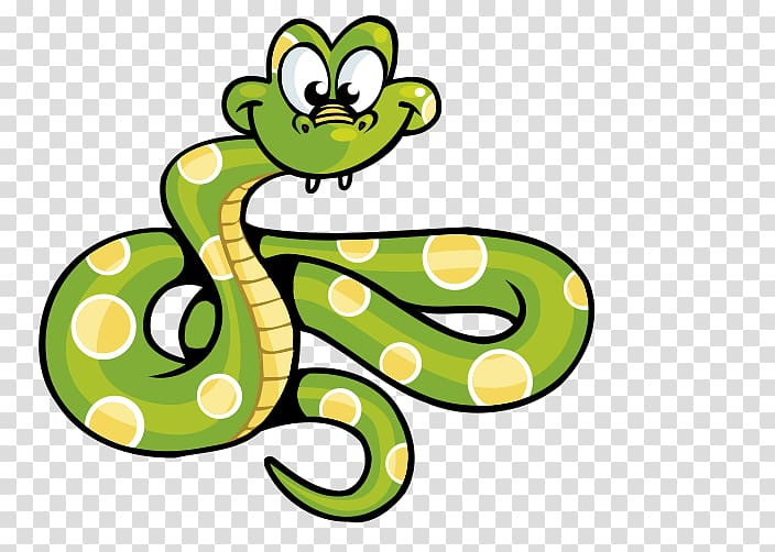 Animated clipart transparent background jpg library Animated green and yellow snake illustration, Snake Computer file ... jpg library