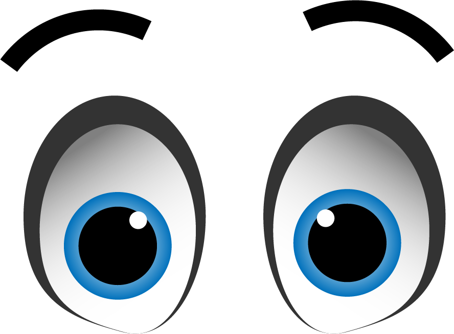 Animated clipart transparent background graphic black and white 11 expression cartoon eyes with transparent background | png image ... graphic black and white