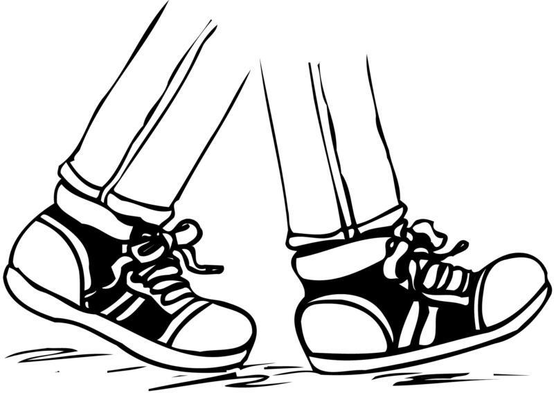 Rwalk a thon black and white clipart black and white stock Animated Walking Feet Clipart Basic Local 3 | www.thelockinmovie.com black and white stock