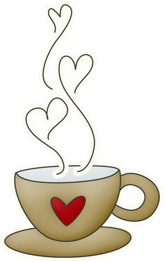 Animated coffee cup heart shaped clipart transparent background png black and white library Coffee Mug With Heart PNG Transparent Coffee Mug With Heart.PNG ... png black and white library