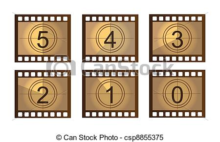 Animated countdown clipart. Illustrations and stock art