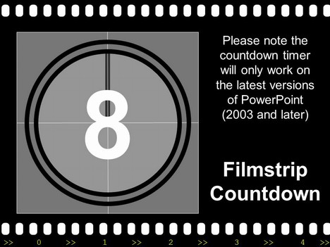 Animated countdown clipart graphic transparent stock Filmstrip with Countdown graphic transparent stock