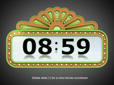 Timer a powerpoint template. Animated countdown clipart