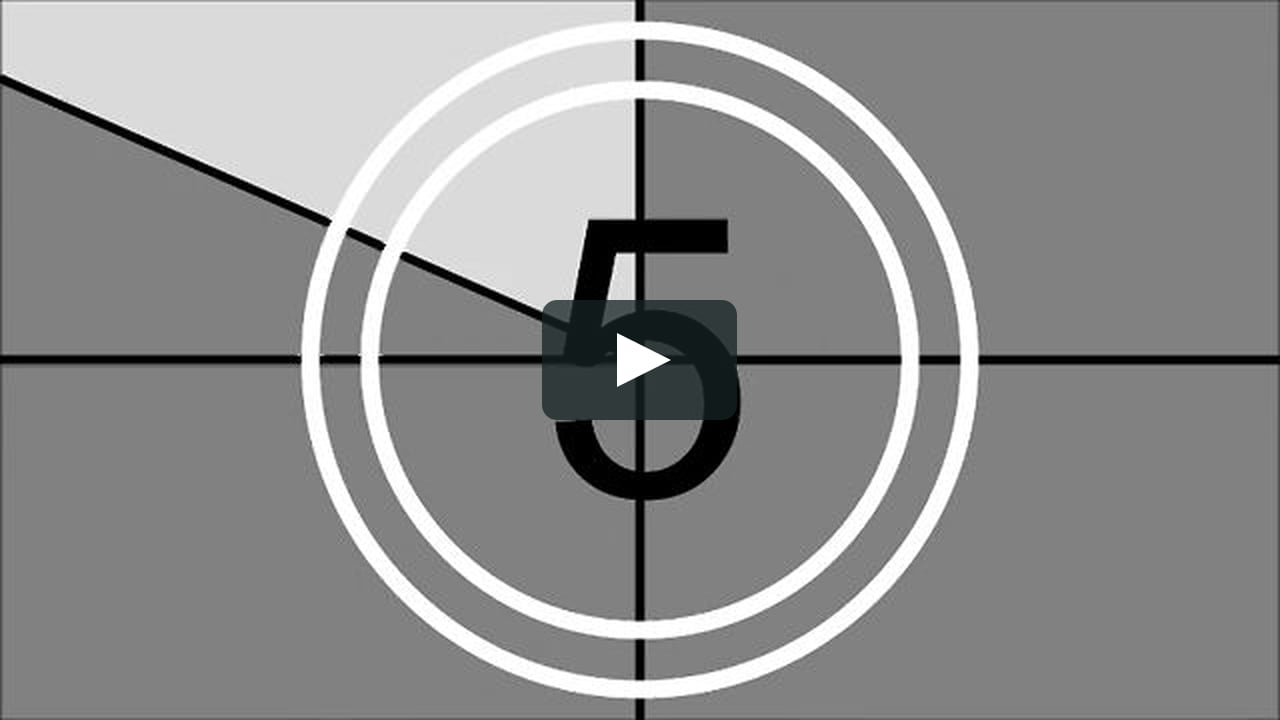 Animated countdown clipart svg freeuse download Film Leader Countdown on Vimeo svg freeuse download