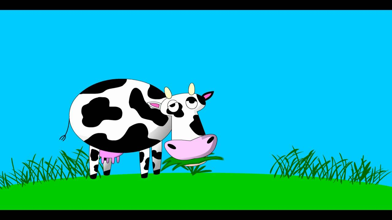 Animated cow eating grass clipart vector black and white A Cow Eating Grass vector black and white
