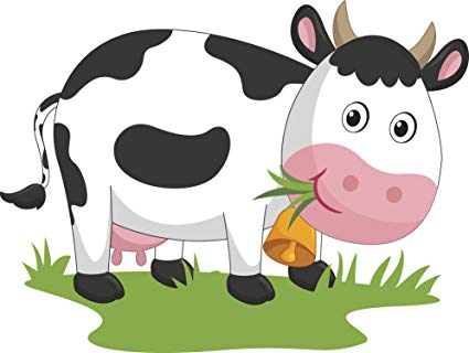 Animated cow eating grass clipart clip art royalty free stock Amazon.com: Happy Smiling Milking Cow Eating Grass Cartoon Vinyl ... clip art royalty free stock