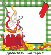Crawfish border clipart picture royalty free Crawfish Clip Art - Royalty Free - GoGraph picture royalty free
