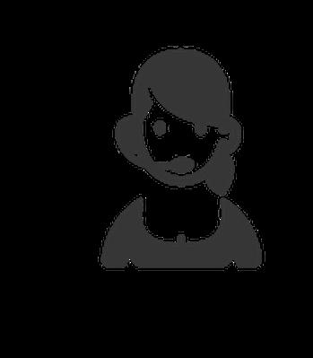 Professions black white representative. Animated customer service clipart