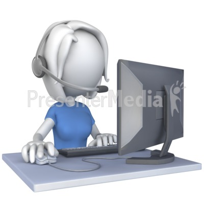 Animated customer service clipart. Stickman anim id woman